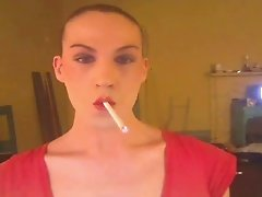 smoking tranny bitch