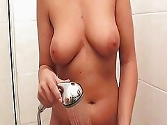 Sandra Nero is a hot milf showering