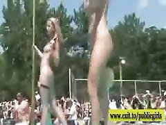 Outdoor Party with hundreds of Nude Next Door Girls