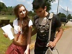 Teen gets cock instead of dildo