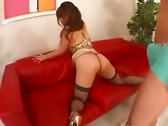 stocking and deep asian anal sex