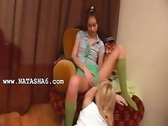 Blonde and brunet chicks from Russia