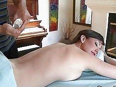 Busty babe massage