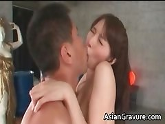 Gorgeous asian honey sucks stiff boner part3