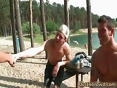 Great outdoor scene with two sexy gay part3