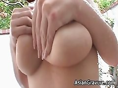 Hot brunette asian hoe with big juggs part2