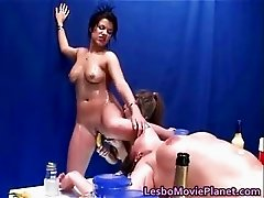 Hot lesbian threesome with sexy horny part4