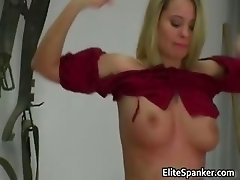 Busty blond slut whipped cute brunette part6