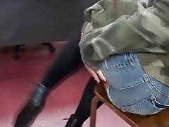 Horny bitch in classroom