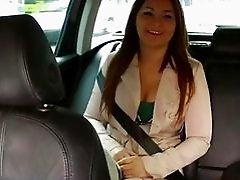 Beatiful gal fucked in the cab backseat