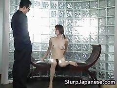 Pretty teen Jun Nada plays with herself part3