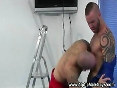 Tattooed studs compare eachothers dicks