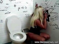 Big tits gloryhole blonde loves cock