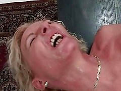 Nice horny 50yo granny in massive sperm cocktail