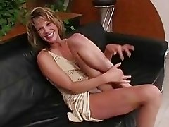 Sensual blonde hets her tight ass hole and nookie rammed