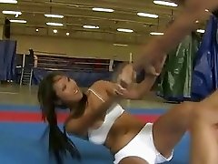 Pretty hot brunettes fighting