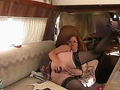 BBW Granny Fucks Ass