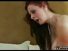 Busty hot babe Gianna Michaels whacking her mouth deep with a thick cock