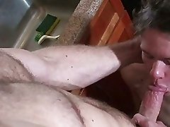 A guy is opening his lovers ass widely to allow there his tongue