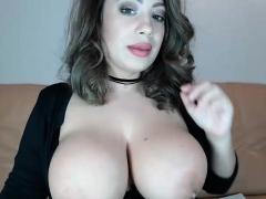 hot blonde milf bib boobs