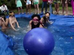 Outdoor teen pool party