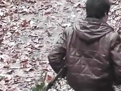 fucking a professional in the woods