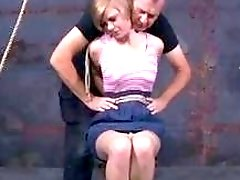Amateur redhead submissive girl dominated and humiliated by master BDSM