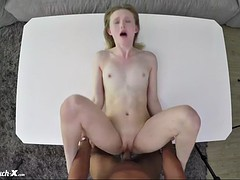 super damn sweet newcomer lanna carter is fucked by porn producer on interview