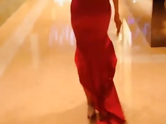 Sexy Red Dress Ladyboy