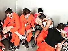 Bisexual orgy in prison with hot sluts
