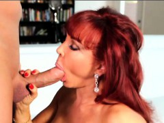 Sexy Vanessa Gets on Her Knees to Blow Christian