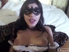 Brunette Girl with MAsk is Fucking