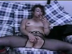 Slut In Fishnets Having Sex