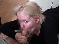 blonde milf gets her beautiful face savagely fucked