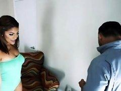Big booty sexy brunette latina Mia Martinez gets banged