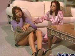 redhead babes are hot lesbos masturbating on the clitoris