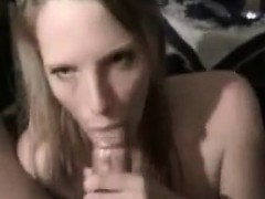 Blonde babe gives nice POV blowjob
