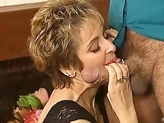 Horny Satyr Roberto Shakes His Oozing Dick Close To MILF's Face