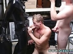 Caught shooting sperm in public gay Dungeon master with a gi