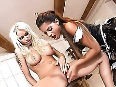 French maid eats out the lady of the house