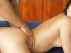 Hot babe Remy Lacroix pussy pounded good on the couch