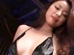 Attractive Japanese babes in lingerie enjoy hardcore sex