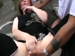 Mature Slut Fingered In Public