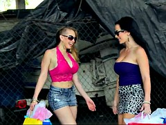 kagney linn karter and jayden jaymes flashing their tits outdoor