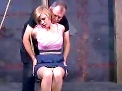 Bondage sub slut gets finger fucked by master BDSM porn
