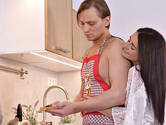 RIM4K. Girl has a surprise for the husband and rimming is one of them
