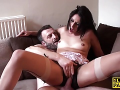 British sub slut dominated with dick