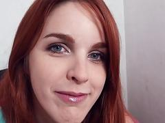 Redhead Eurobabe banged and cum facialed
