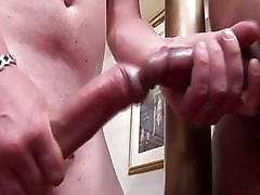 brawny cock enters a tight shemales asshole and she cums