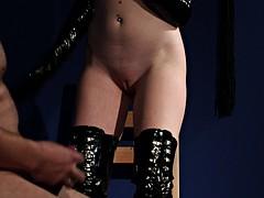 kinky sex mistress teases her sissy slave